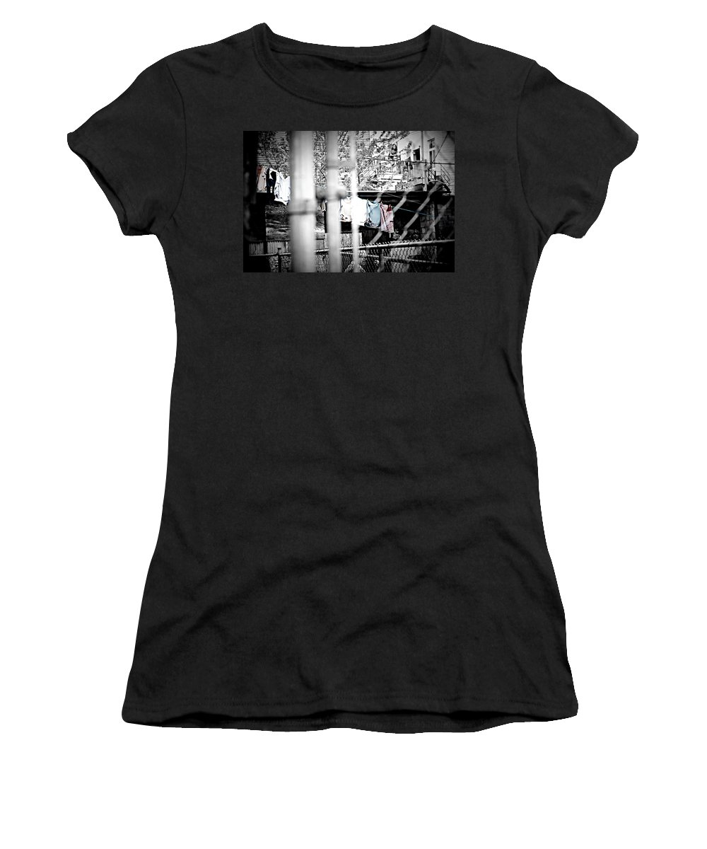 Laundry Women's T-Shirt (Athletic Fit) featuring the photograph Hung To Dry by Lisa Knechtel