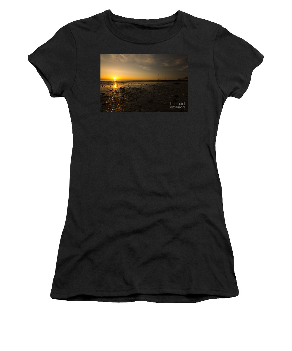 Hunstanton Women's T-Shirt featuring the photograph Hunstanton Sunset by Rob Hawkins