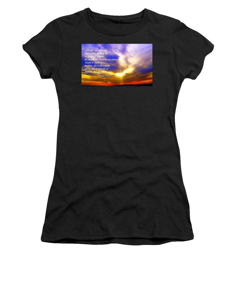 Women's T-Shirt (Athletic Fit) featuring the photograph I Am Convinced by Jewell McChesney