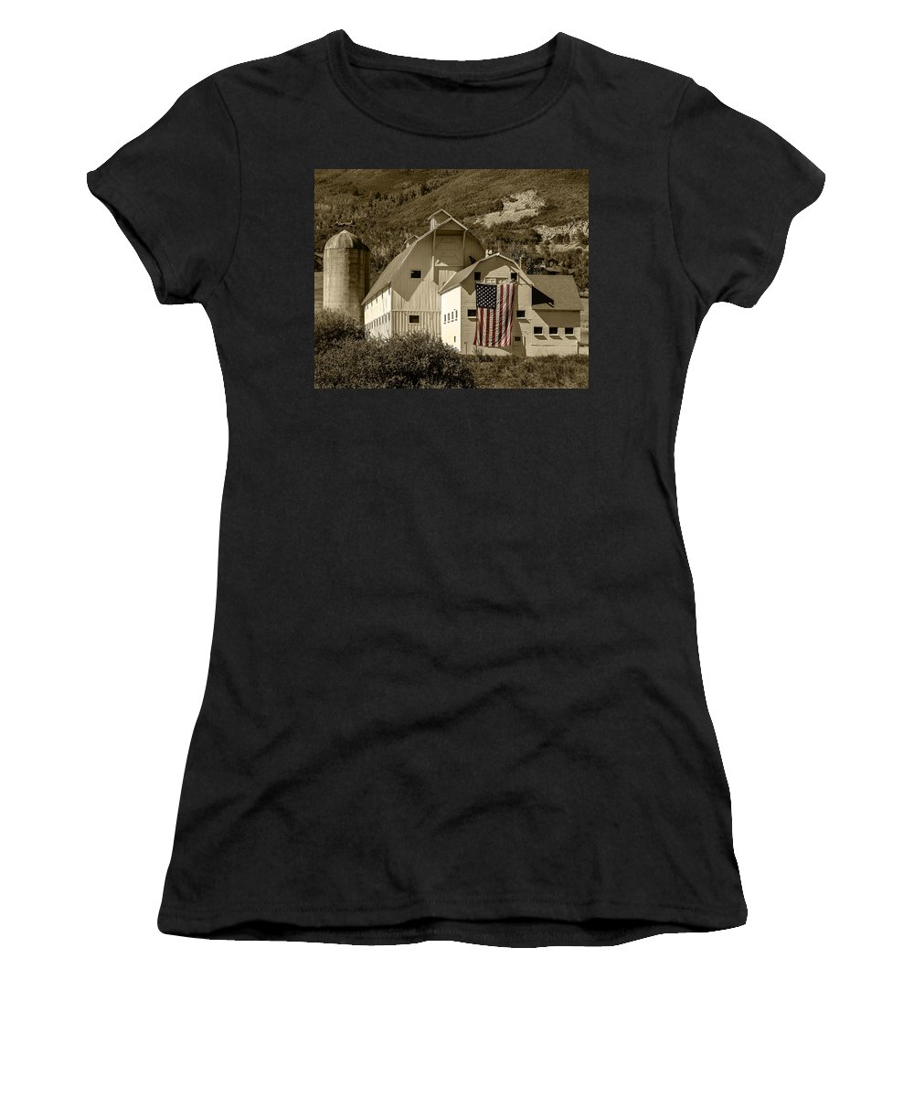 Barn Women's T-Shirt featuring the photograph I Pledge by Carl Nielsen
