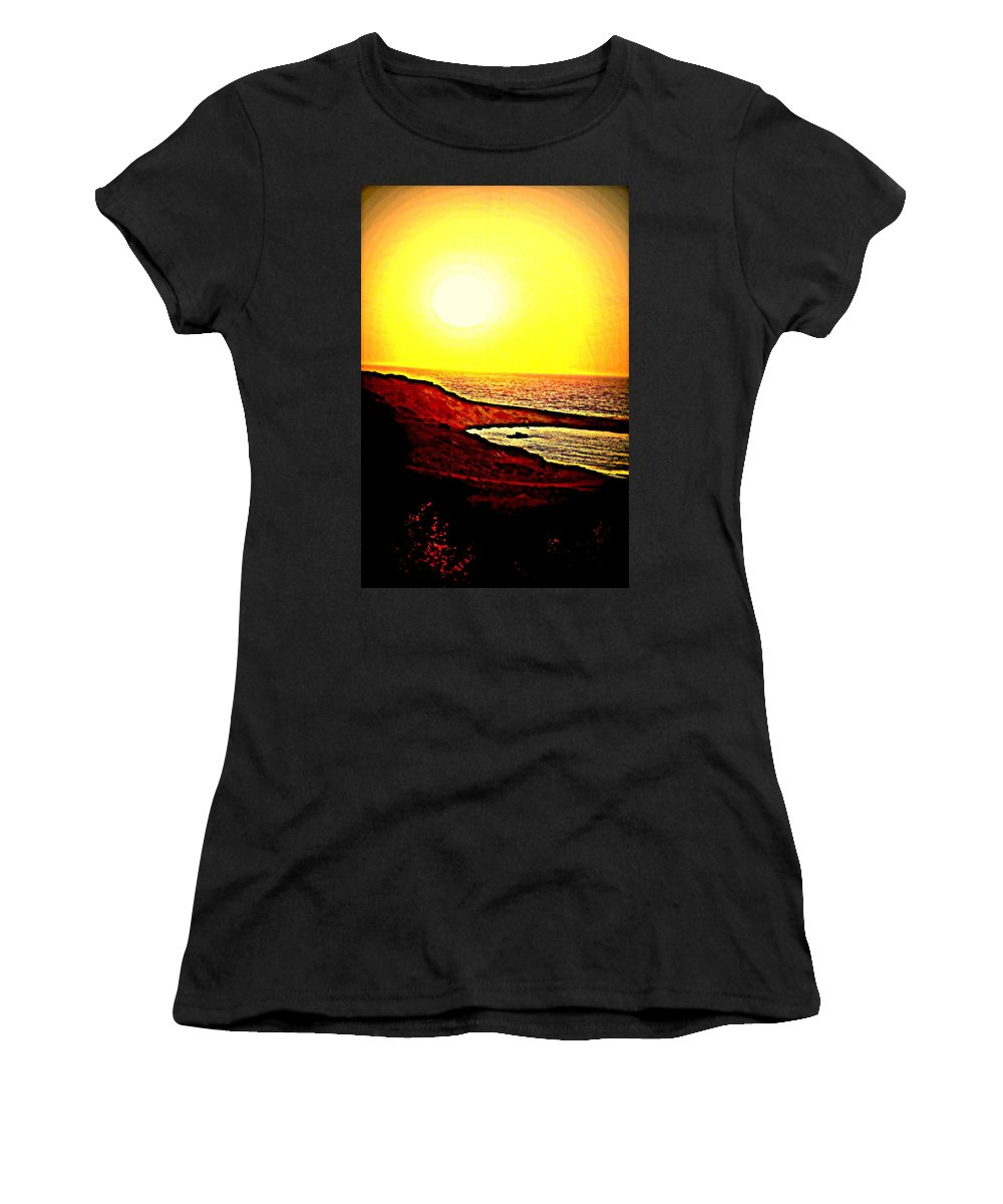 Sun Women's T-Shirt (Athletic Fit) featuring the photograph I Hope I Will See You In The Morning by Hilde Widerberg