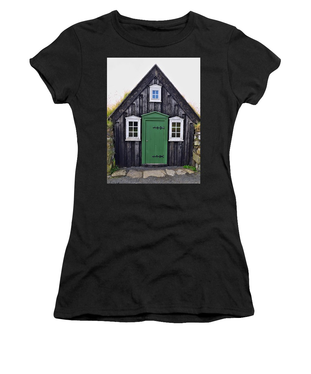 Grass Women's T-Shirt featuring the photograph Icelandic Old House by Ivan Slosar