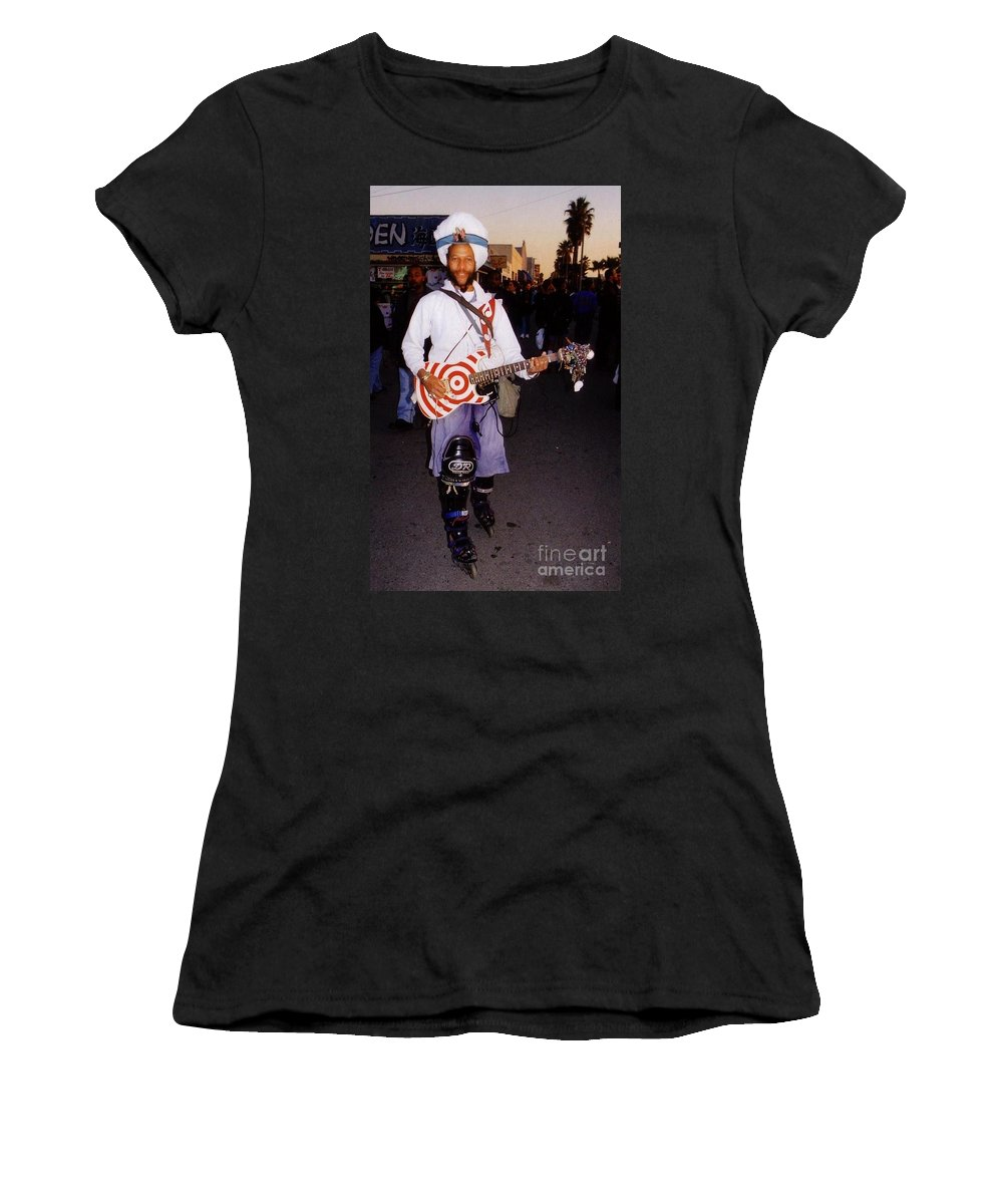 Muscian Women's T-Shirt (Athletic Fit) featuring the photograph Icon Of Venice Beach California by Halifax Artist John Malone