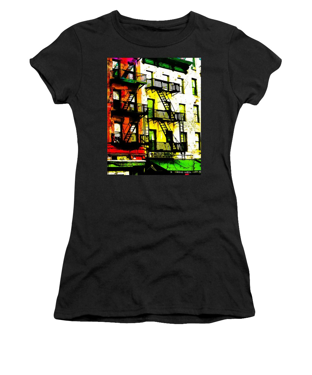 New York Women's T-Shirt (Athletic Fit) featuring the digital art If You Can Make It There by Terry Fiala