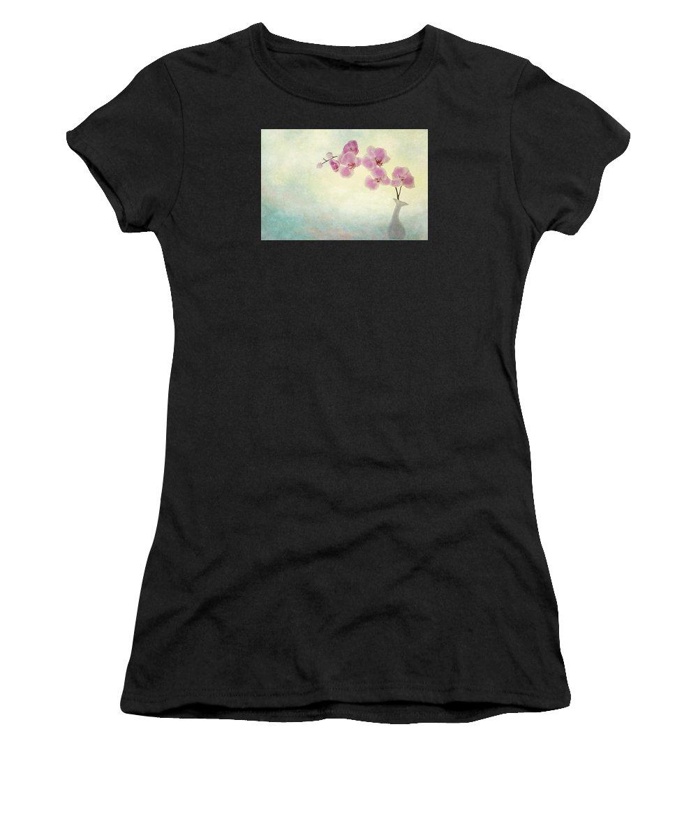 Flower Artwork Women's T-Shirt featuring the photograph Ikebana by Mary Buck