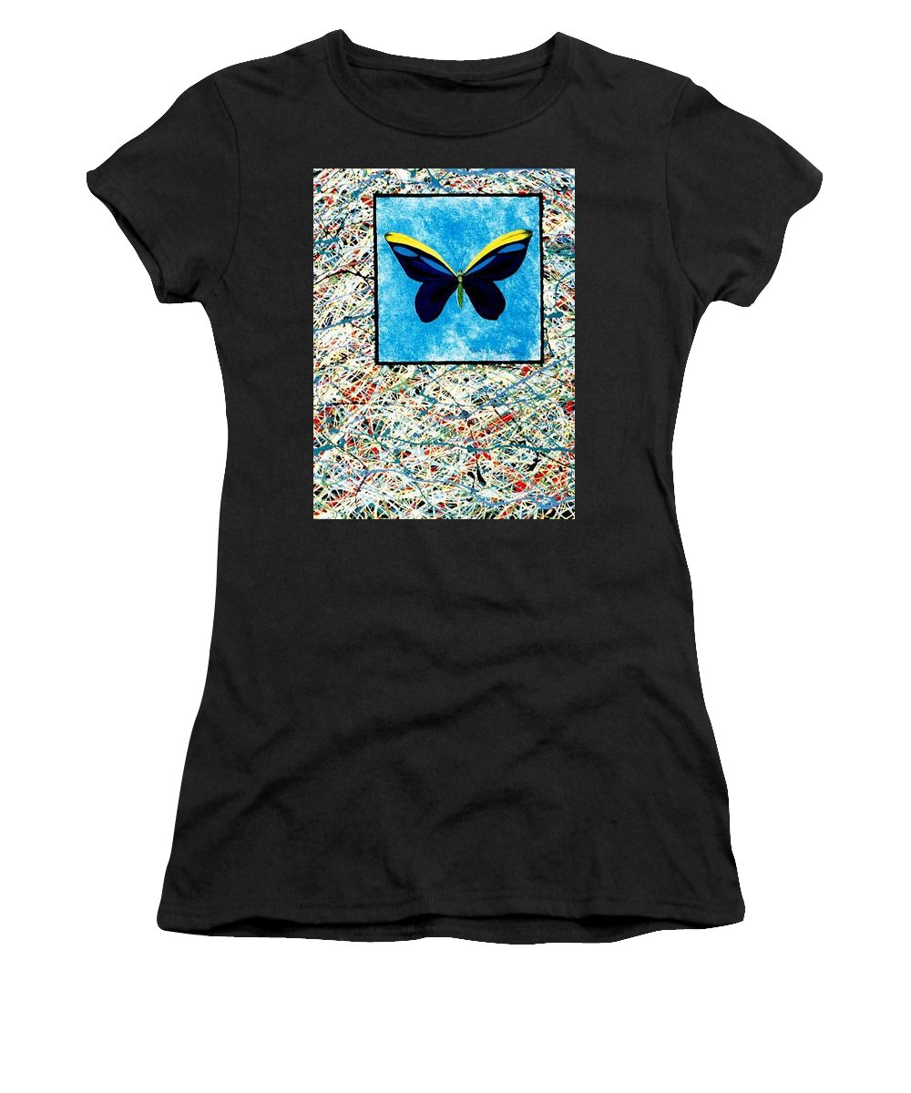 Abstract Women's T-Shirt featuring the painting Imperfect II by Micah Guenther