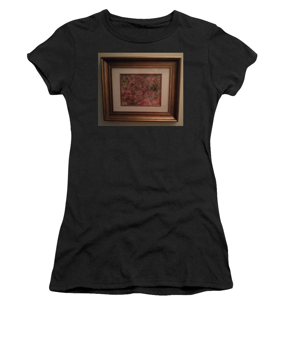 Framed Abstract Picture Women's T-Shirt featuring the painting In High Spirits by Myrtle Joy
