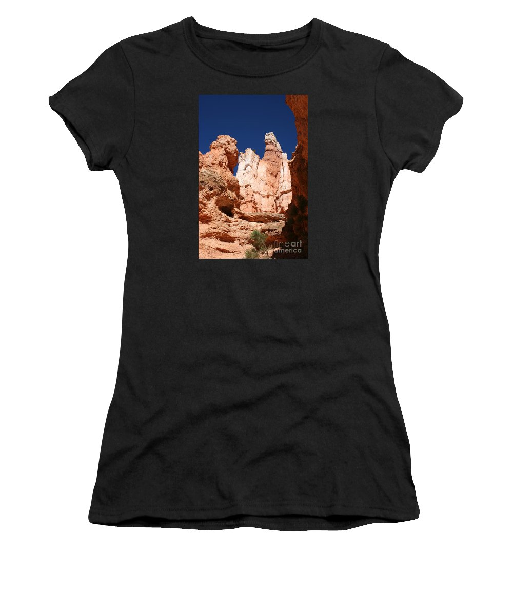 Canyon Women's T-Shirt (Athletic Fit) featuring the photograph In The Bryce Canyon by Christiane Schulze Art And Photography