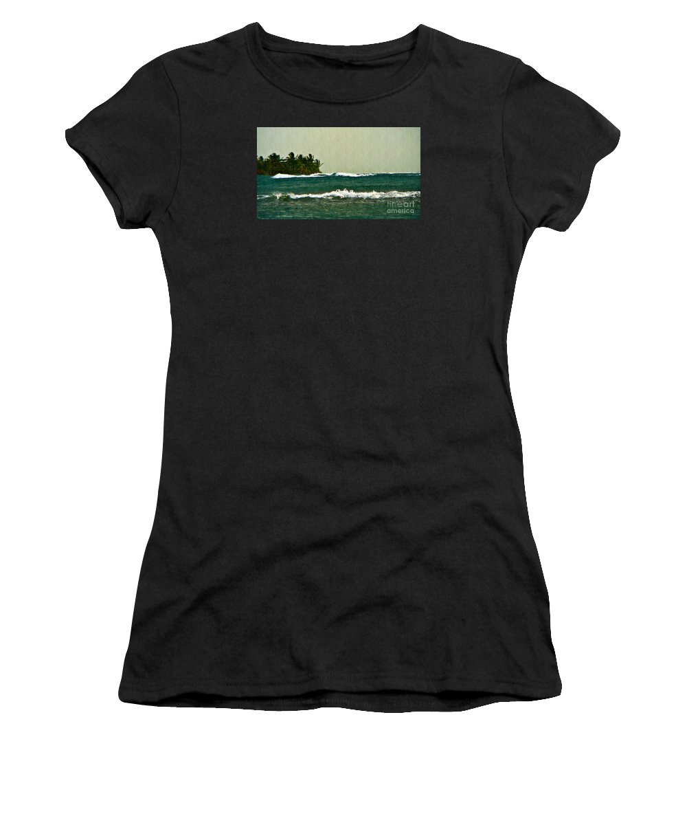 Costa Rica Women's T-Shirt (Athletic Fit) featuring the photograph Incoming Storm by Chris Sotiriadis