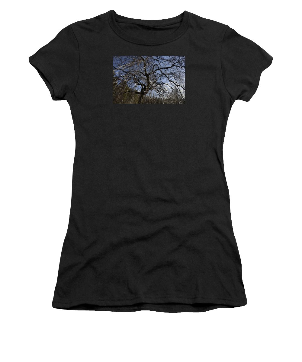 Fine Women's T-Shirt featuring the photograph Inner Energy In Full Blossom 1 by Teo SITCHET-KANDA