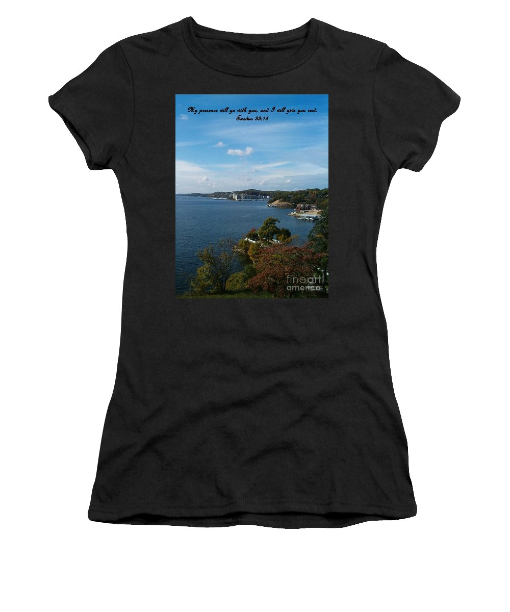 Lake Women's T-Shirt (Athletic Fit) featuring the photograph Inspirations 6 by Sara Raber