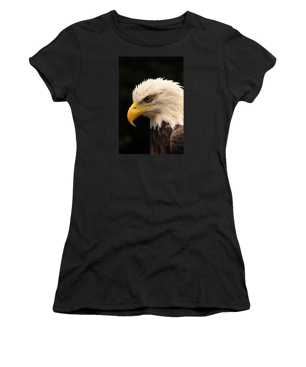 Eagle Women's T-Shirt featuring the photograph Intense Stare by Mike Martin