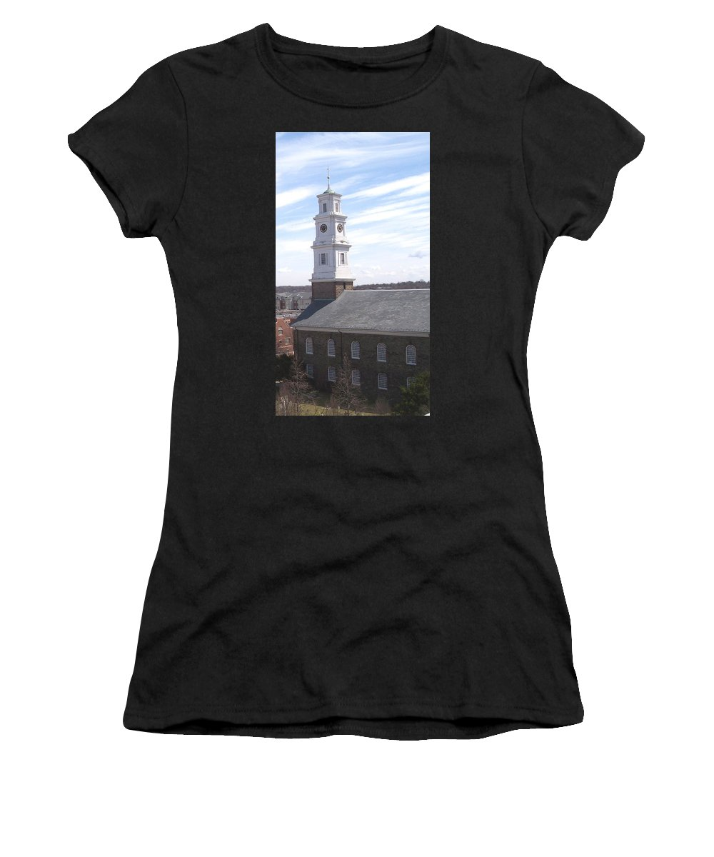 Architecture Women's T-Shirt (Athletic Fit) featuring the photograph Into The Blue by Pharris Art