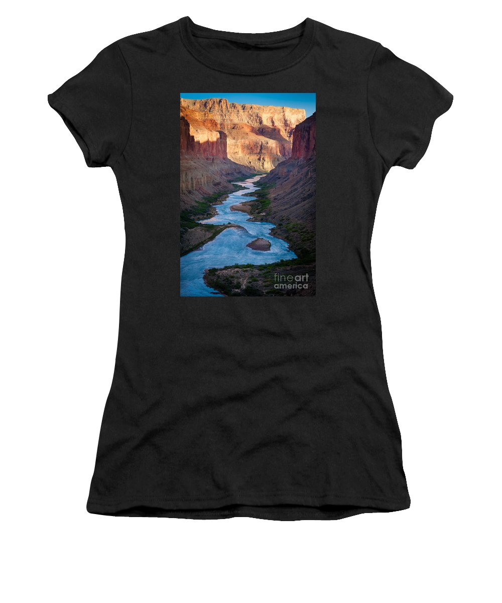 America Women's T-Shirt (Athletic Fit) featuring the photograph Into The Canyon by Inge Johnsson