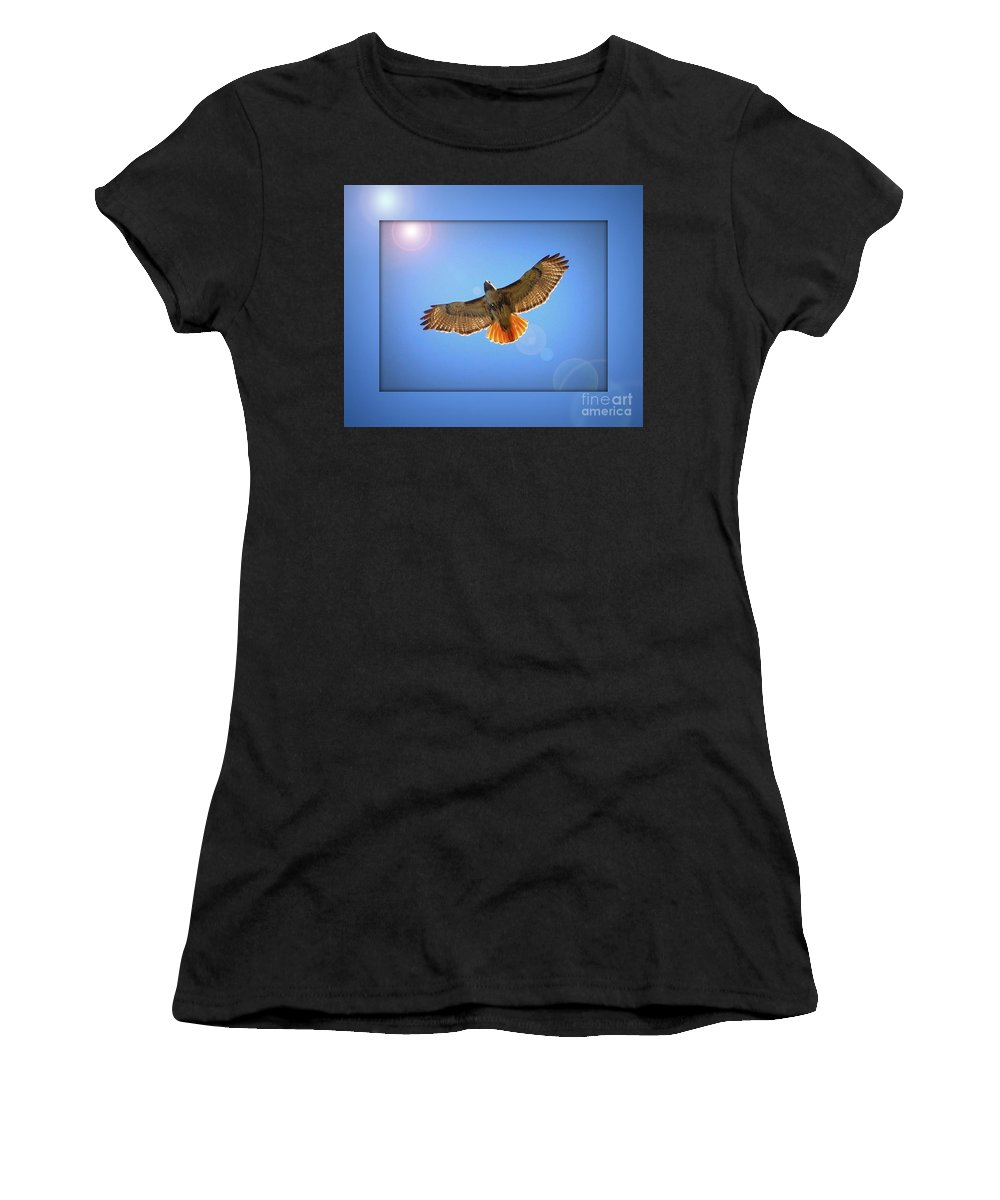 Digital Art Women's T-Shirt featuring the photograph Into The Light by Carol Groenen
