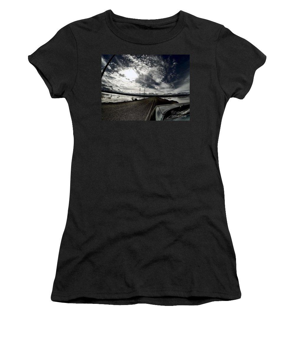 Landscape Women's T-Shirt featuring the photograph Two-lane Escape by Chris Phillips
