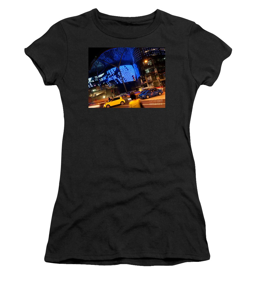 Singapore Women's T-Shirt featuring the photograph Ion Orchard At Night 01 by Rick Piper Photography