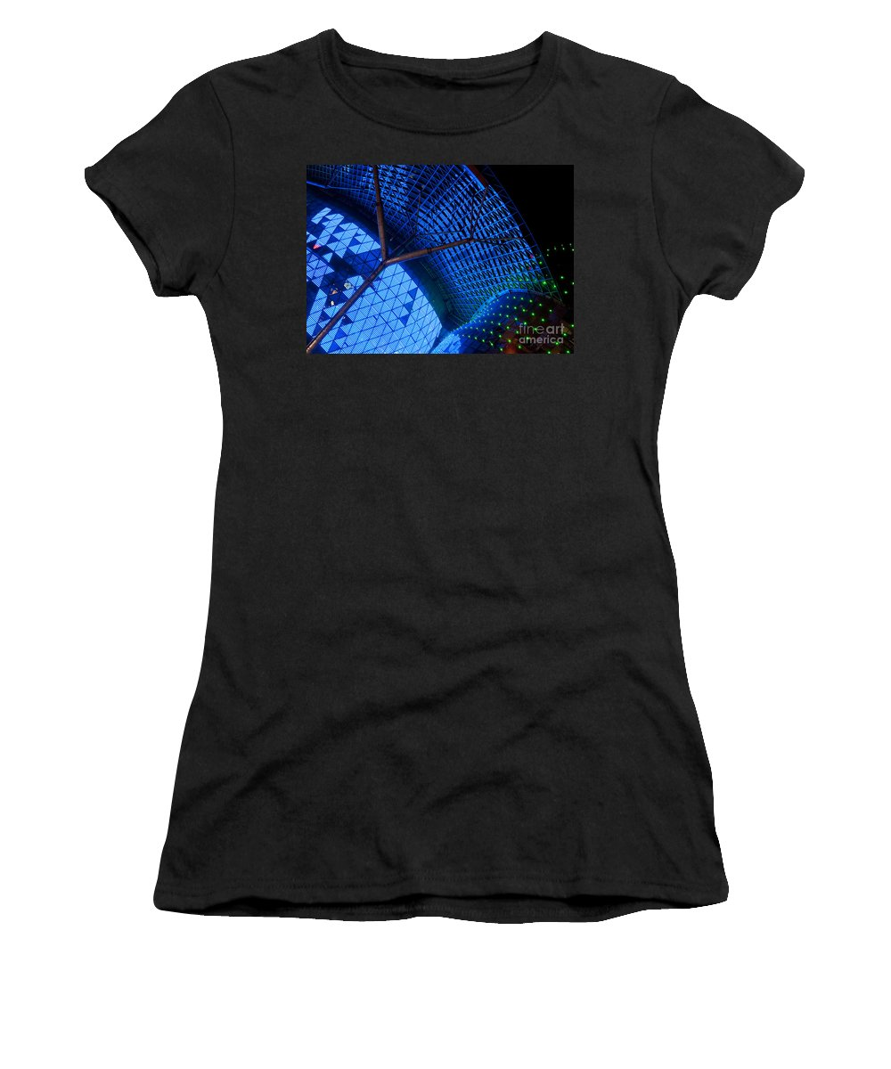 Singapore Women's T-Shirt featuring the photograph Ion Orchard At Night 02 by Rick Piper Photography