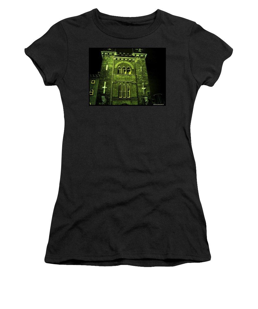 Ireland Women's T-Shirt featuring the photograph Ireland Church IIi Emerald Night by Ellen Cannon