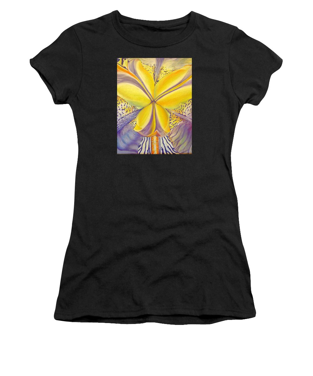 Flower Women's T-Shirt featuring the drawing Iris by Joshua Morton