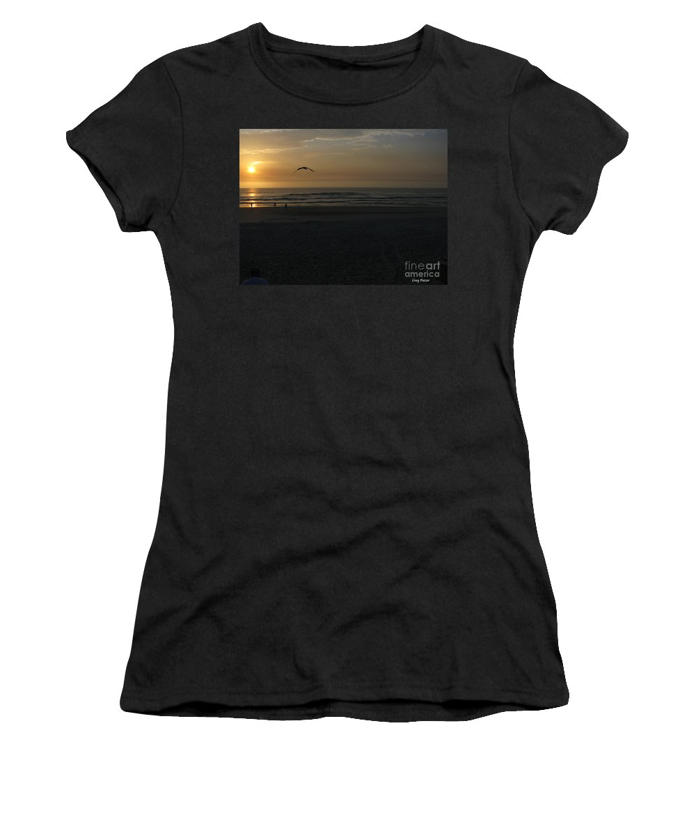 Florida Sunrise Women's T-Shirt (Athletic Fit) featuring the photograph It Starts by Greg Patzer