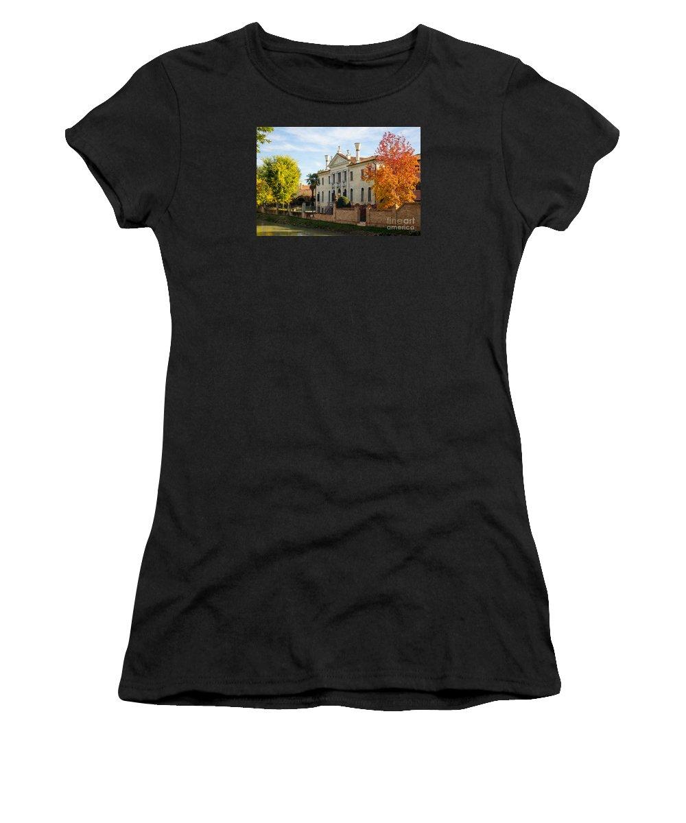 Italian Villa Women's T-Shirt featuring the photograph Italian Villa by Prints of Italy