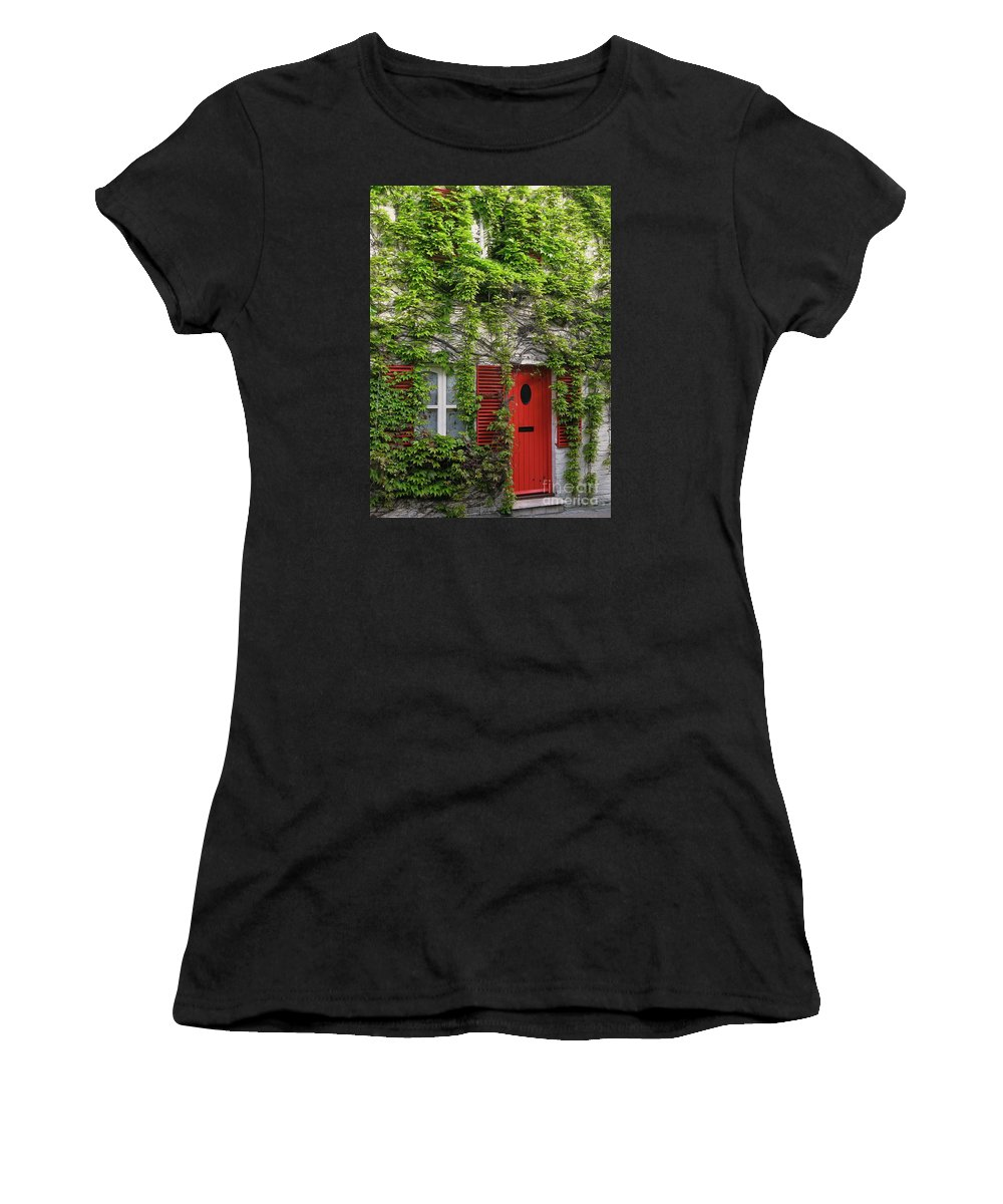 Ivy Women's T-Shirt (Athletic Fit) featuring the photograph Ivy Cottage by Ann Horn