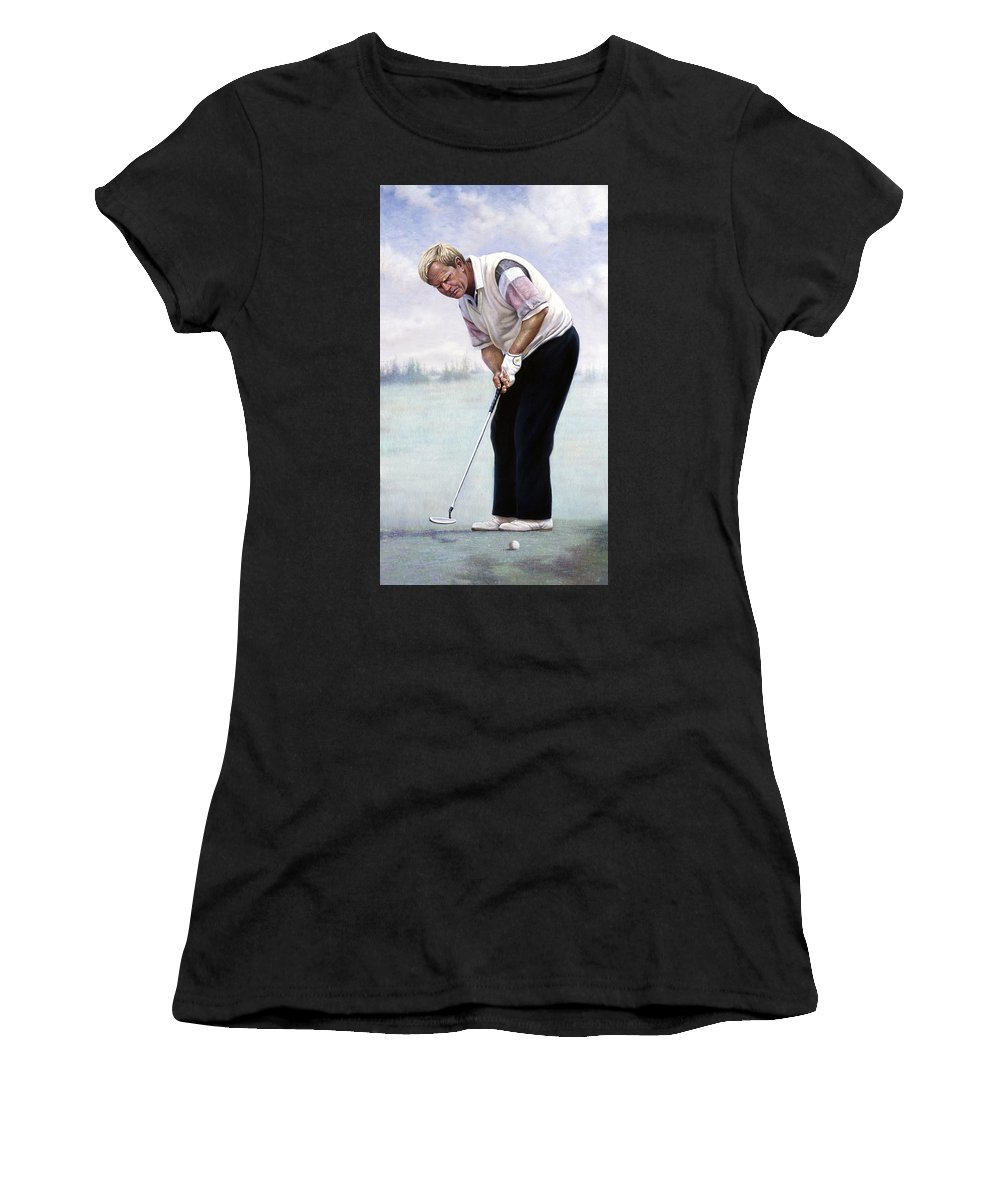Best Women's T-Shirt featuring the painting Jack Nicklaus by Gregory Perillo