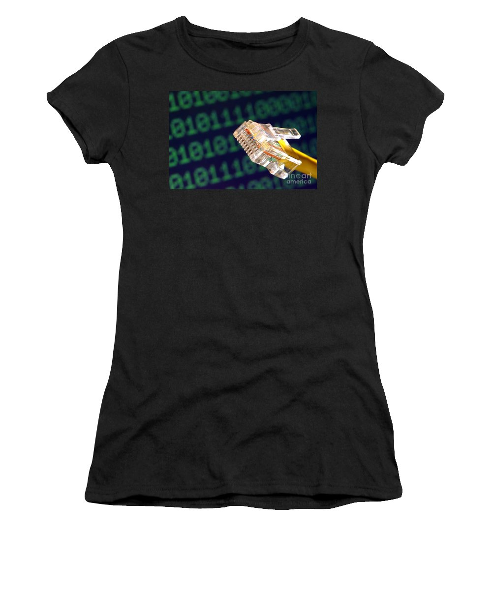 Jack Women's T-Shirt (Athletic Fit) featuring the photograph Jack Of All Computer Trades by Olivier Le Queinec