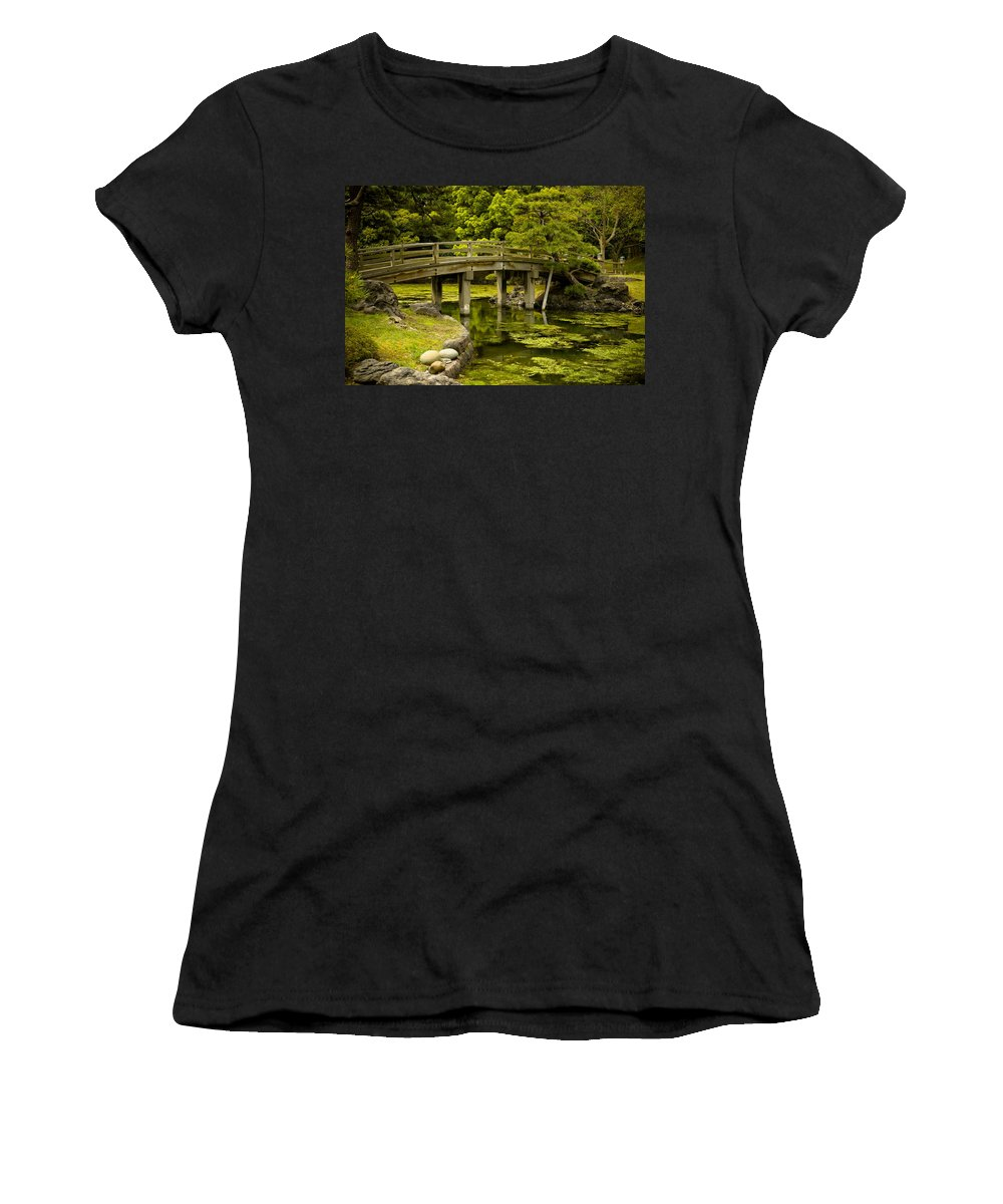 Japan Women's T-Shirt (Athletic Fit) featuring the photograph Japanese Garden Tokyo by Sebastian Musial
