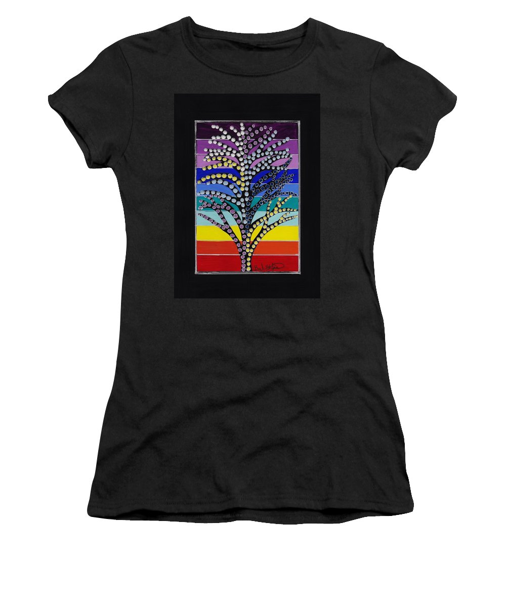 Japanese Maple Women's T-Shirt featuring the painting Japanese Maple by Barbara St Jean