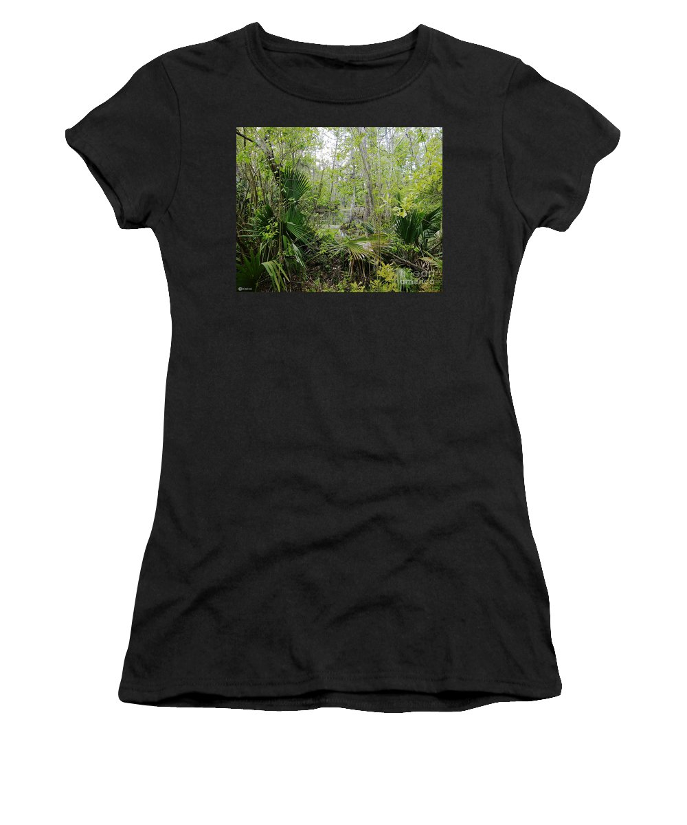 Nature Women's T-Shirt (Athletic Fit) featuring the photograph Jean Lafitte National Preserve Swamp Louisiana by Lizi Beard-Ward