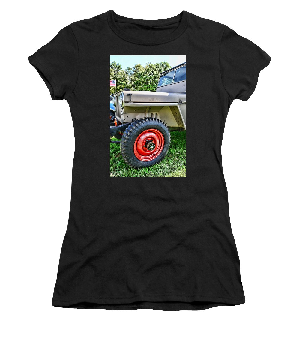 Paul Ward Women's T-Shirt featuring the photograph Jeep Willys Ww2 by Paul Ward