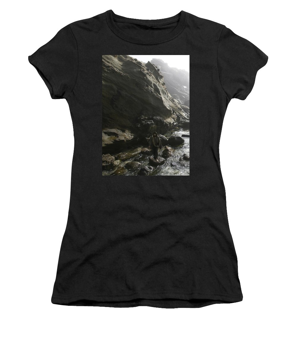 Alex-acropolis-calderon Women's T-Shirt (Athletic Fit) featuring the photograph Jesus Christ- For I Know The Plans I Have For You by Acropolis De Versailles