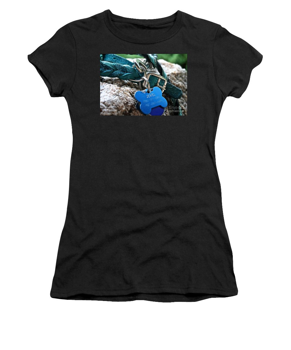 Dog Women's T-Shirt featuring the photograph Jewel's Jewelry by Susan Herber
