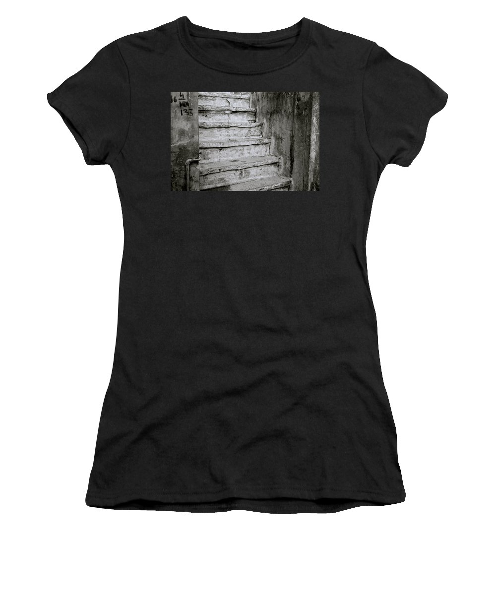 India Women's T-Shirt (Athletic Fit) featuring the photograph Jodhpur Stairway by Shaun Higson