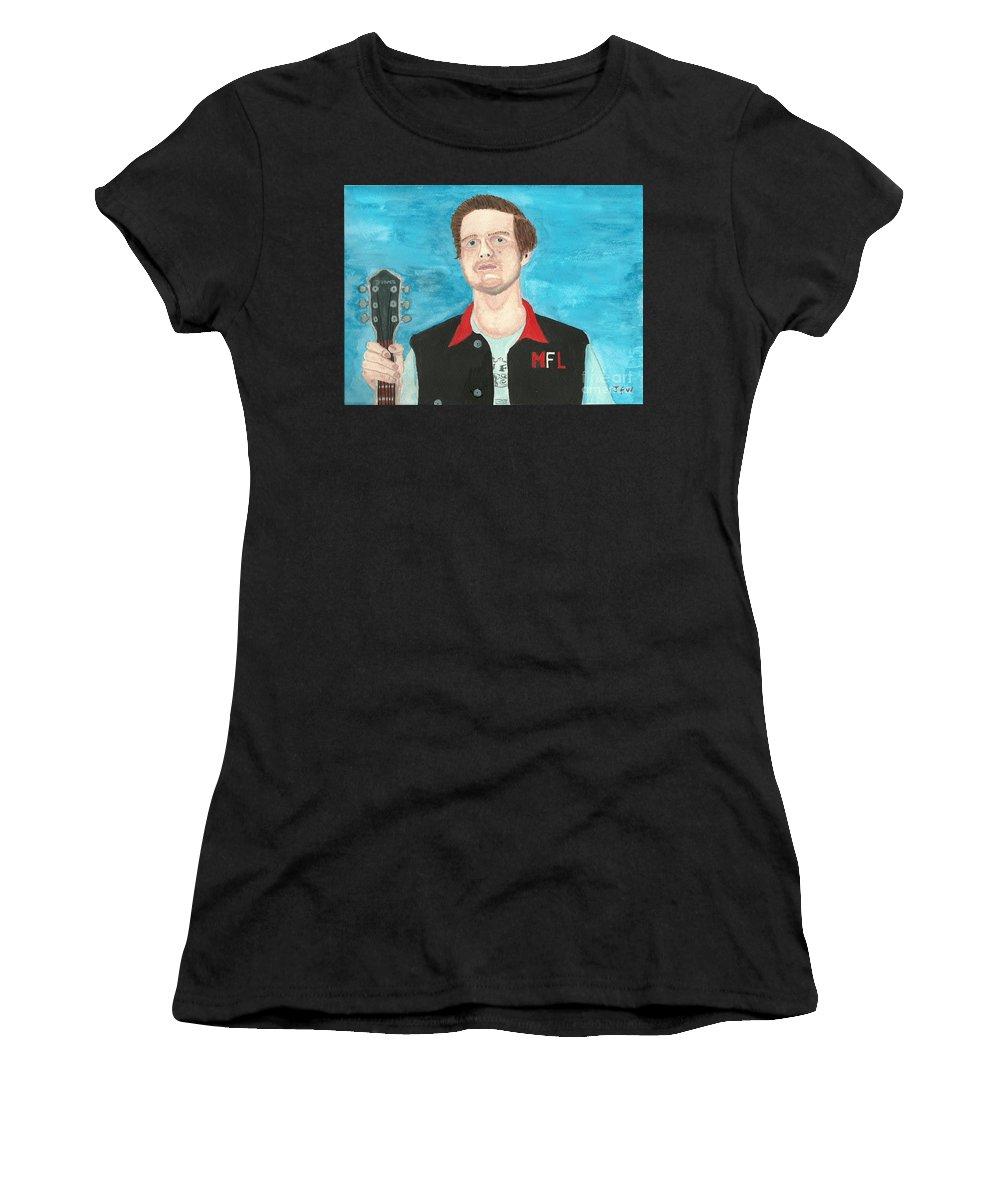 Josh Aldridge Women's T-Shirt featuring the painting Josh Aldridge by John Williams