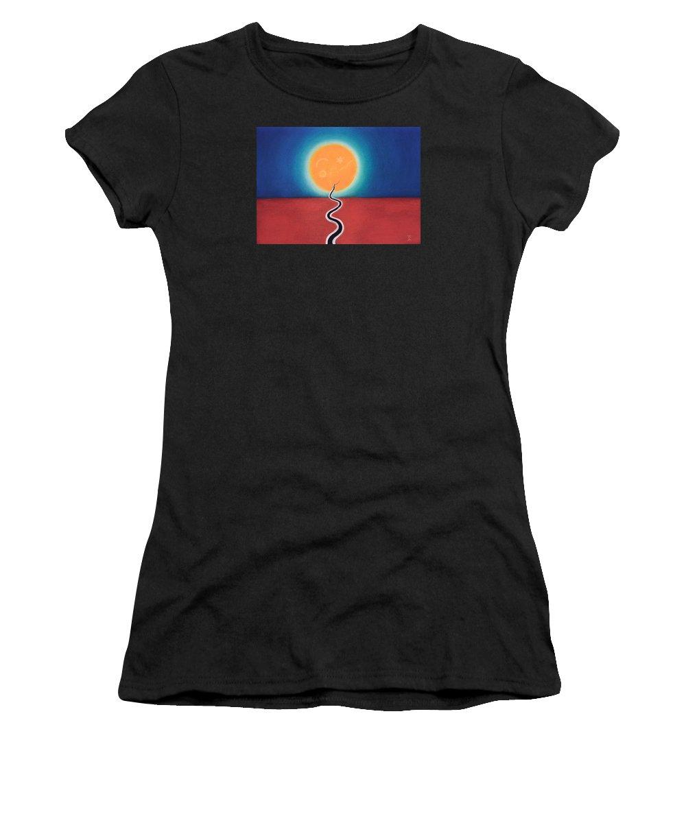 Jjudith Chantler Women's T-Shirt featuring the pastel Journey Of Transformation by Judith Chantler