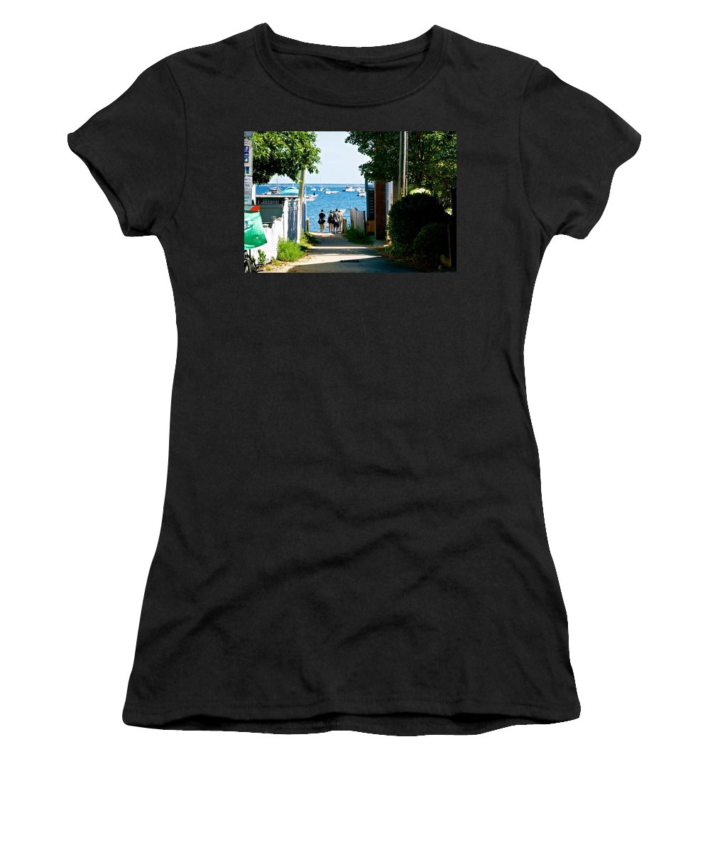 Provincetown Women's T-Shirt (Athletic Fit) featuring the photograph Journey's End by Ira Shander