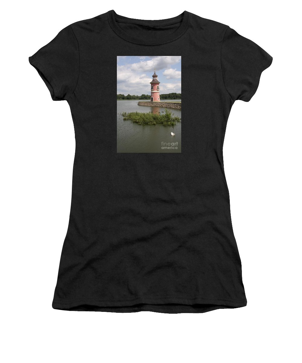 Lighthouse Women's T-Shirt (Athletic Fit) featuring the photograph Just For Fun by Christiane Schulze Art And Photography