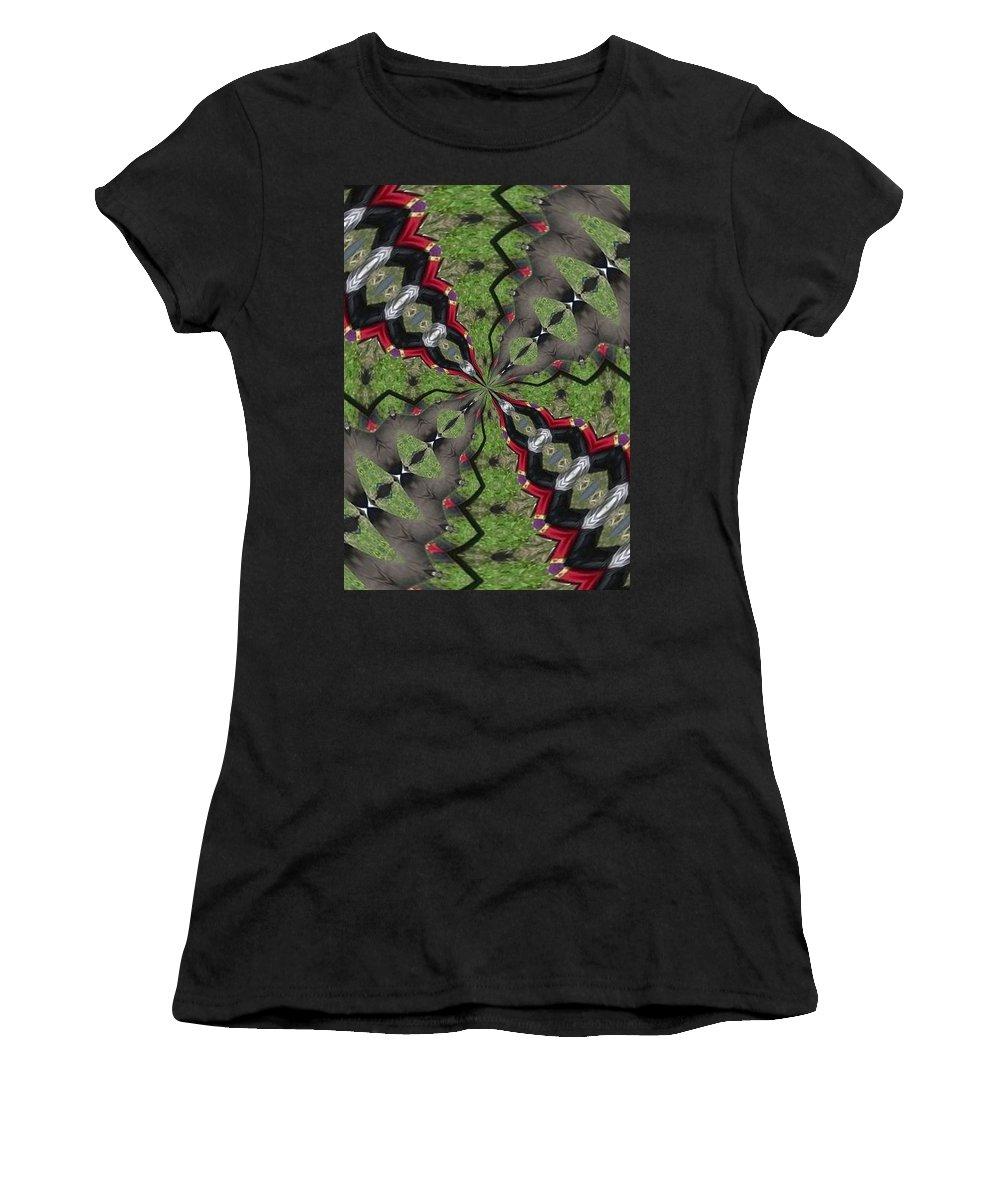 Kaleidoscope Women's T-Shirt (Athletic Fit) featuring the photograph K2 by Mechala Matthews