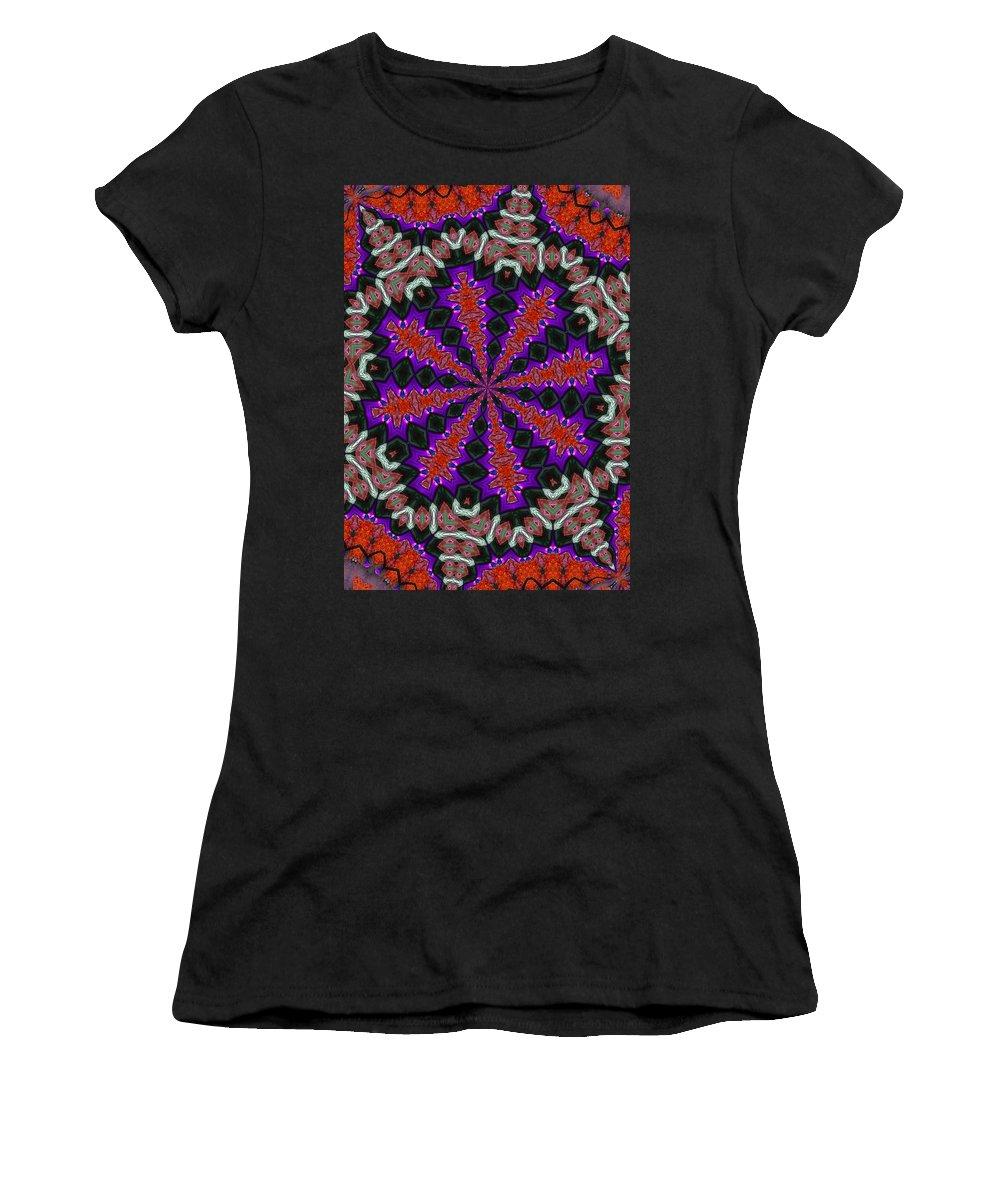 Kaleidoscope Women's T-Shirt (Athletic Fit) featuring the photograph K3 by Mechala Matthews