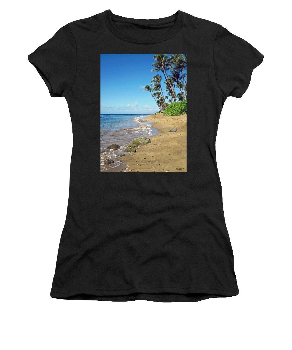 Beach Women's T-Shirt featuring the photograph Ka'anapali Beach by Shanna Hyatt