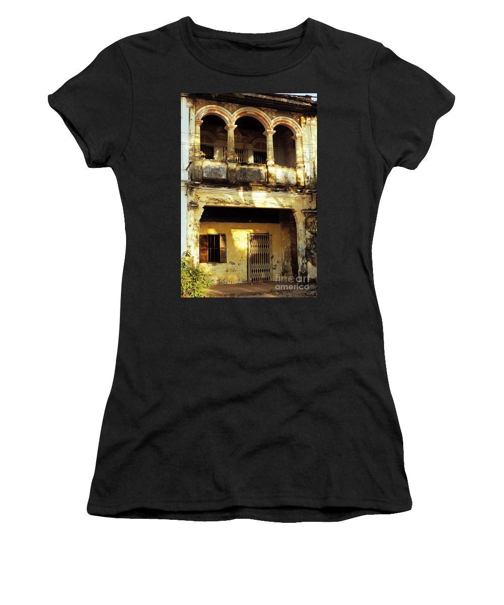 Cambodia Women's T-Shirt featuring the photograph Kampot Old Colonial 05 by Rick Piper Photography