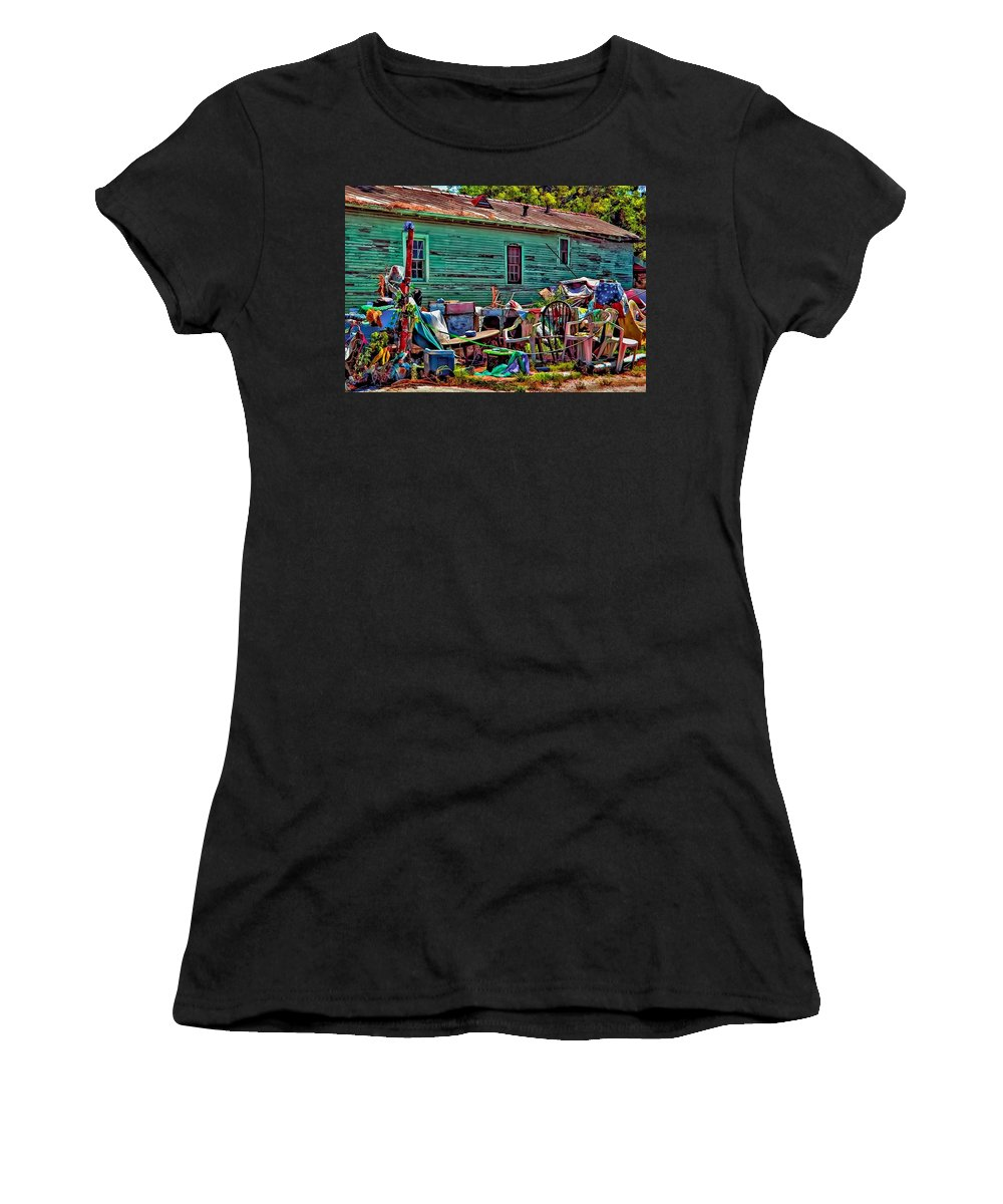 Katrina Women's T-Shirt (Athletic Fit) featuring the photograph Katrina Memory by Steve Harrington