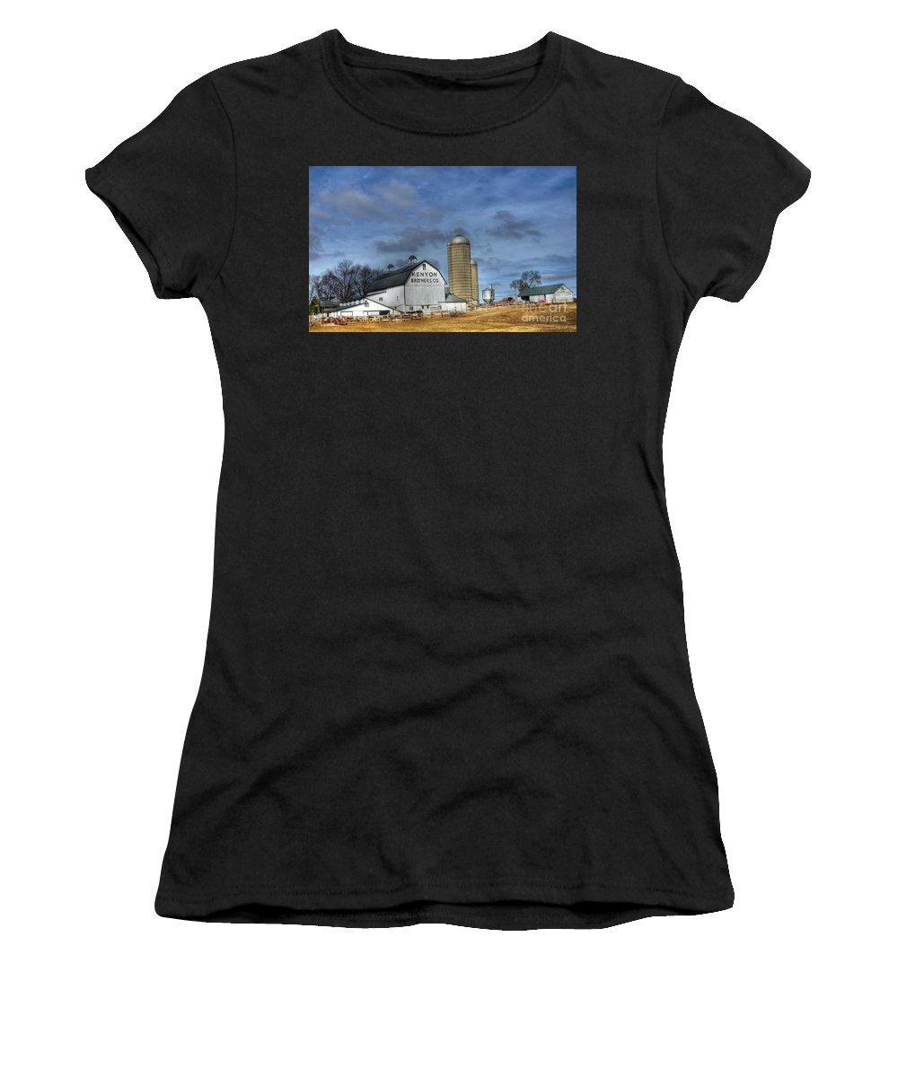 Kenyon Brother Dairy Women's T-Shirt (Athletic Fit) featuring the photograph Kenyon Brothers Dairy by David Bearden