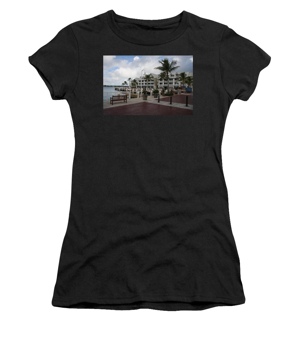 Key West Women's T-Shirt featuring the photograph Key West Bayfront by Christiane Schulze Art And Photography