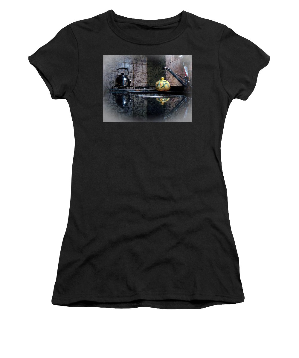 Kitchen Women's T-Shirt (Athletic Fit) featuring the photograph Kitchen Stove by Francisco Colon