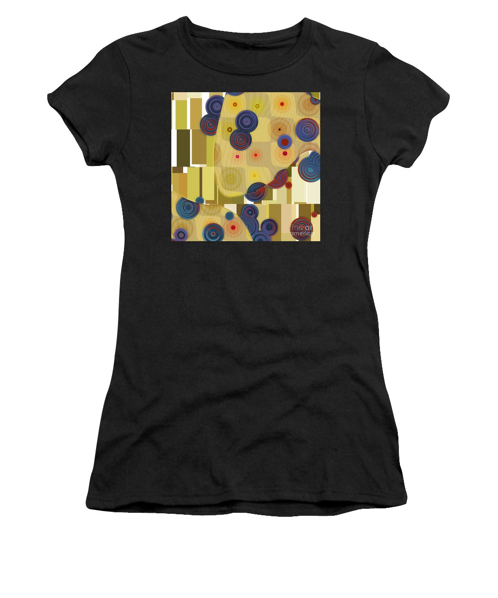 Abstract Women's T-Shirt (Athletic Fit) featuring the digital art Klimtolli - 22 by Variance Collections