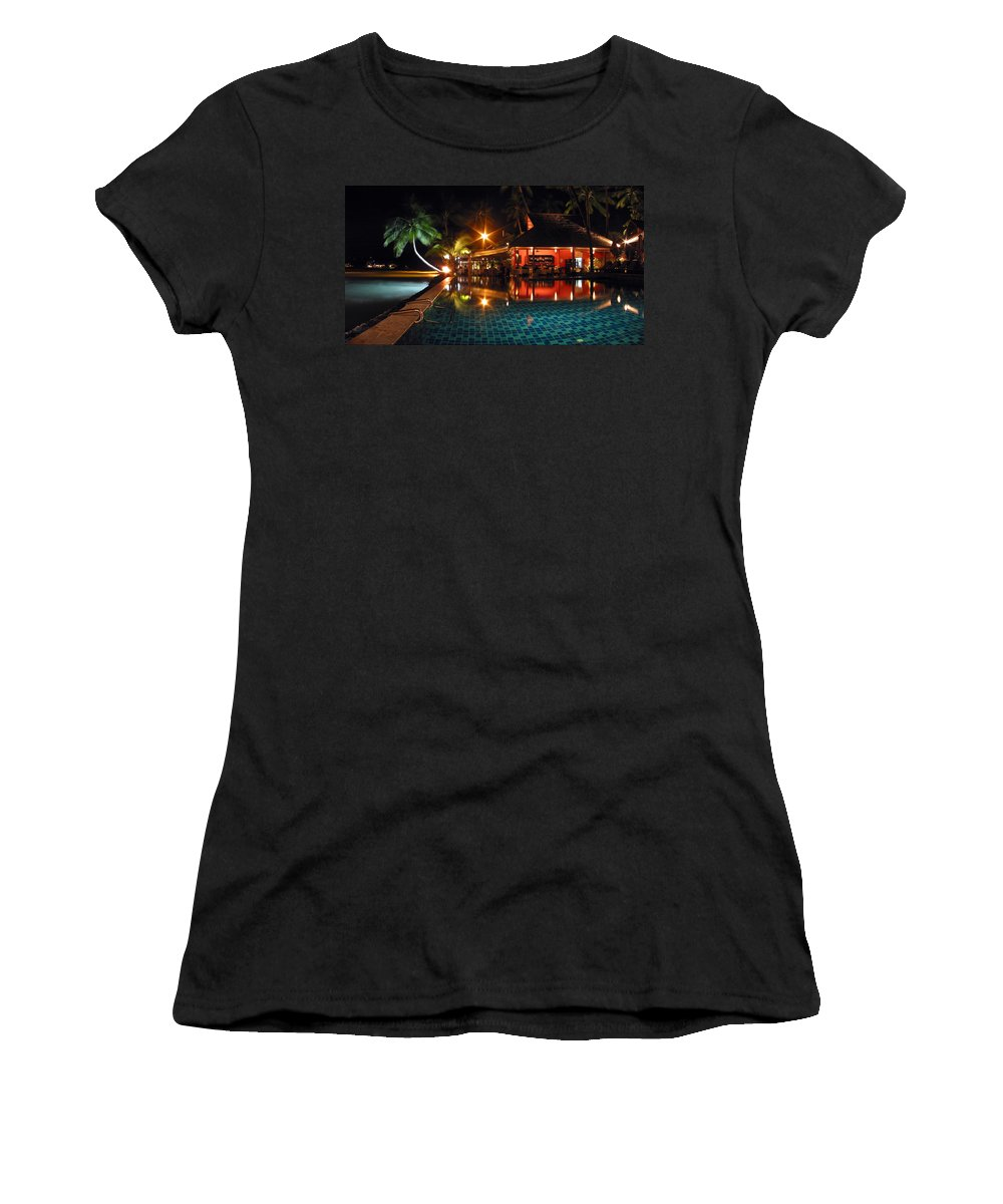 3scape Women's T-Shirt (Athletic Fit) featuring the photograph Koh Samui Beach Resort by Adam Romanowicz